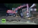 Германия: Очистка продолжается после наводнения оставил 3 погибших в Баден-Вюртемберг.
