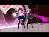 Kasane Teto y Kokona Haruka Electric Angel MMD