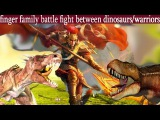 Finger Family Song  DINOSAUR VS TRIBES   Nursery Rhymes and Baby Songs