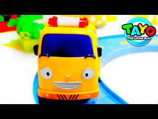 Tayo the Little Bus Garage Gas Station! Tayo Bus Toys for kids Toy Cars Toy Stories
