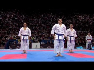 (2-2) Karate Japan vs Italy. Final Male Team Kata. WKF World Karate Championships 2012