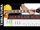 Back In Black de ACDC en guitarra tutorial con Tabs Vídeo Cover como tocar