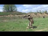 Стрельба из ПКМ украинским спецназовцем. Быстросъемный подсумок для короба пул ...