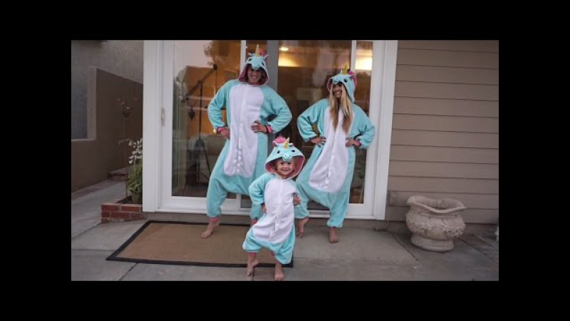 JUJU ON DAT BEAT IN UNICORN ONESIES VLOG | COLE LABRANT, SAVANNAH SOUTAS, EVERLEIGH
