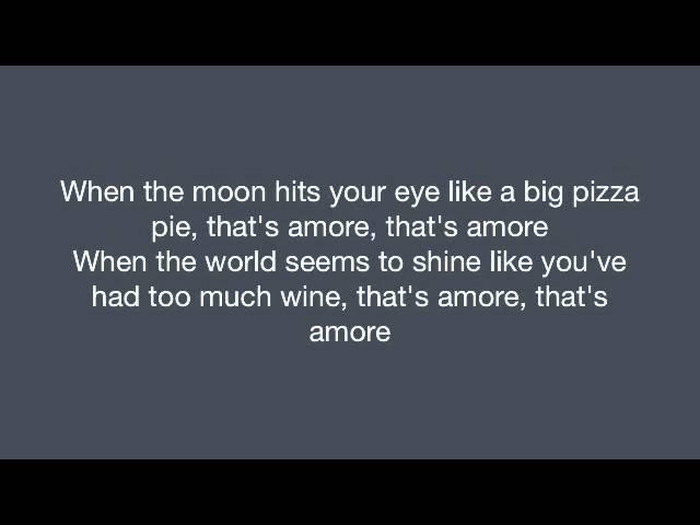 Dean Martin - That's Amore (Lyrics)