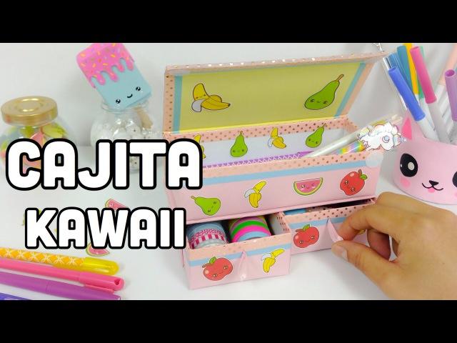 Como hacer una CAJITA para organizar\MANUALIDADES KAWAII