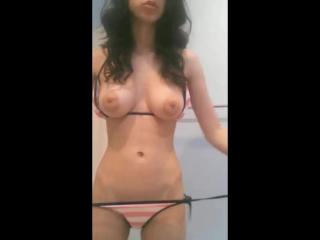 Rule 34 - alyssa at night amateur animated anus areolae ass bikini biting lip breasts female navel nipples no sound presenting p