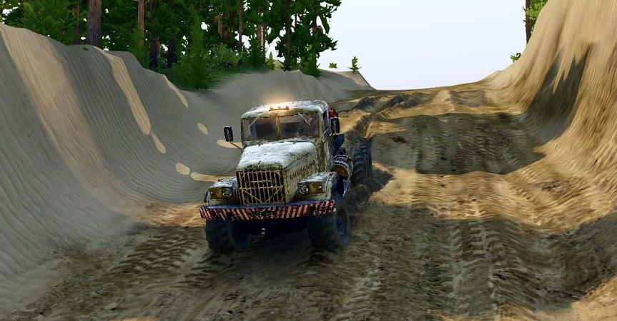 Карта «Песчаный Карьер» для Spintires - Скриншот 1