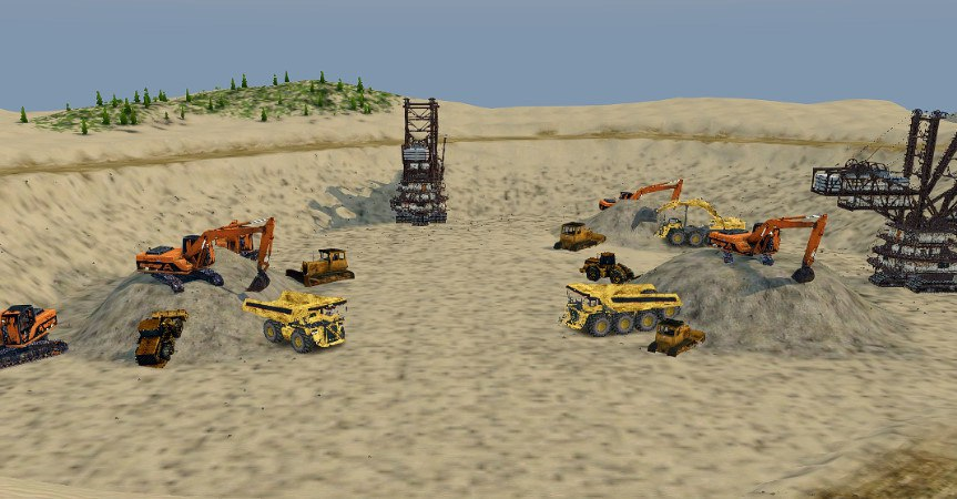Карта «Песчаный Карьер» для Spintires - Скриншот 2