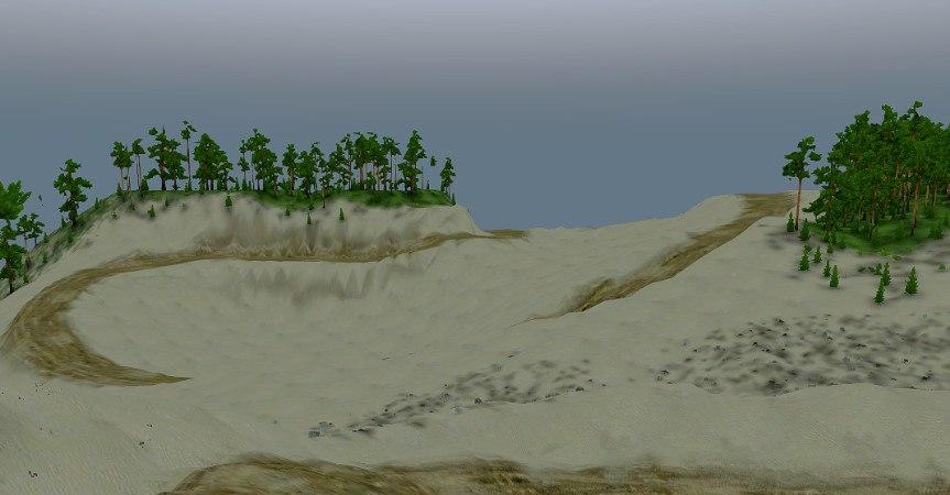 Карта «Песчаный Карьер» для Spintires - Скриншот 3