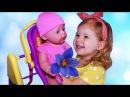 ✿ Куклы БЕБИ БОРН Любимая Кукла Диана Кормит Купает Играет Живая Кукла Baby Born doll ...