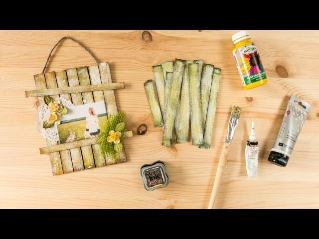 Скрапбукинг Мастер класс Как сделать деревяшки имитацию деревянной поверхности из картона