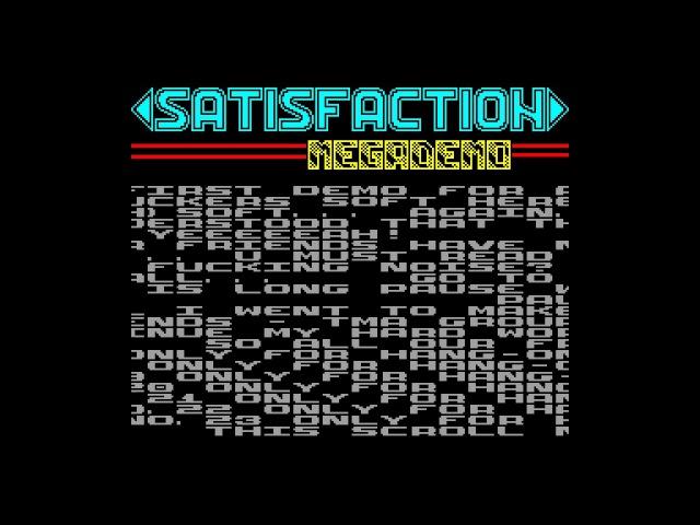 Satisfaction Megademo Code Busters zx spectrum