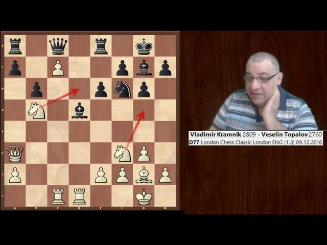 Vladimir Kramnik vs Veselin Topalov : London Chess Classic (2016) : Neo-Grünfeld Defense