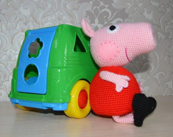 Вязание крючком игрушки свинка пеппа