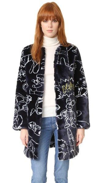 Mira Mikati Пальто из искусственного меха