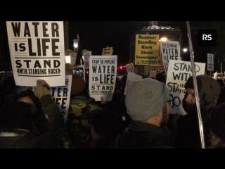 Протесты против Dakota Pipeline в Нью-Йорке