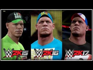 WWE 2K17: John Cena New-Gen Entrance Comparison! (WWE 2K15 vs WWE 2K16 vs WWE 2K17)