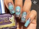 Vintage Bird Butterfly Stamping Nail Art