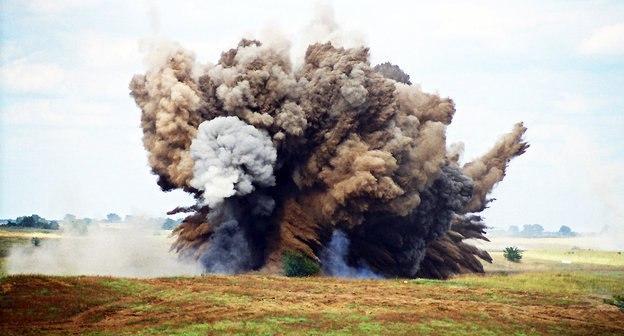 Недалеко от Таганрога сотрудники группы разминирования в/ч уничтожили снаряд