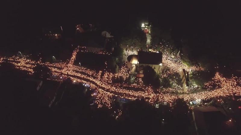 З висоти - похід зі свічками Зарваниця 2016