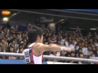 ЧМ 2011. Индивидуальное многоборье. Кодзи Ямамуро - опорный прыжок