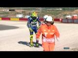 AragonGP FP3 падение Валентино Росси