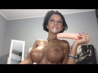 Hot hot anisyia livejasmin blowjob, cumshot on huge tits