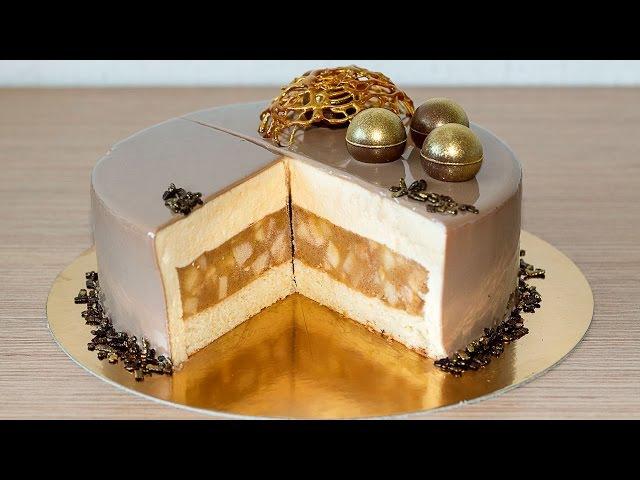 МУССОВЫЙ ТОРТ ЯБЛОКИ В КАРАМЕЛИ | Mousse Caramel Apple Cake Recipe