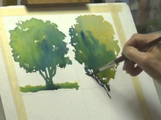Методы рисования деревьев акварелью часть 2, Frank M. Costantino