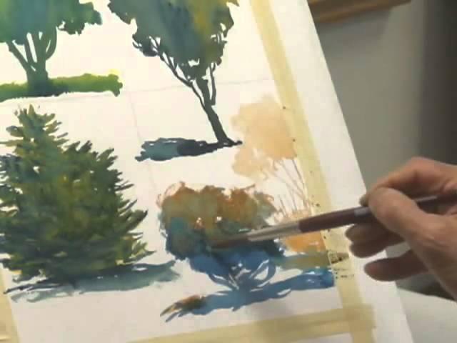 Методы рисования деревьев акварелью часть 4, Frank M. Costantino