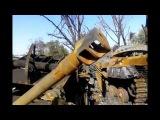 Разбитая техника всу в Лутугино 01.09.2014