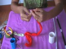 How to make stocking flower (butterfly) by