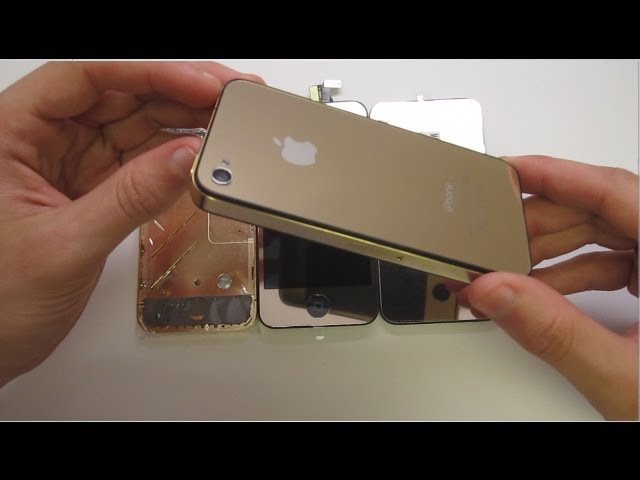 Fully Gold iPhone 4 (Color Conversion Swap) By www.zeetron.com