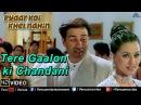 Tere Gaalon ki Chandani Full Video Song | Pyaar Koi Khel Nahin | Sunny Deol, Mahima Choudhary |