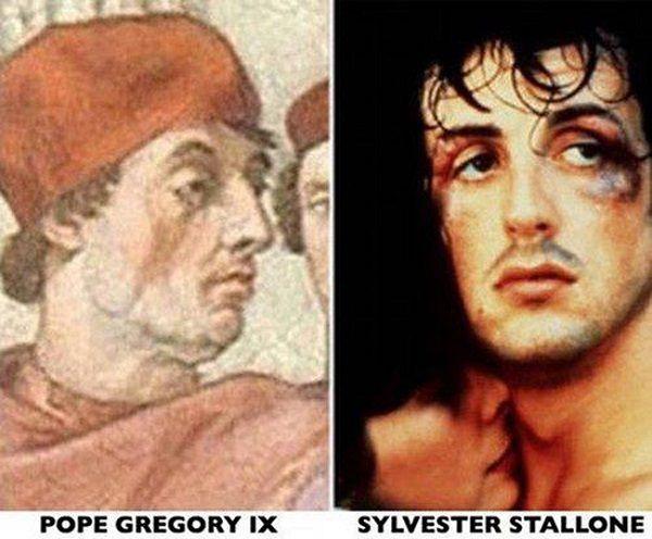 Сильвестр Сталонне и папа Григорий IV