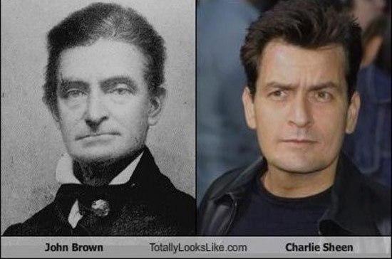 Джон Браун и Чарли Шин