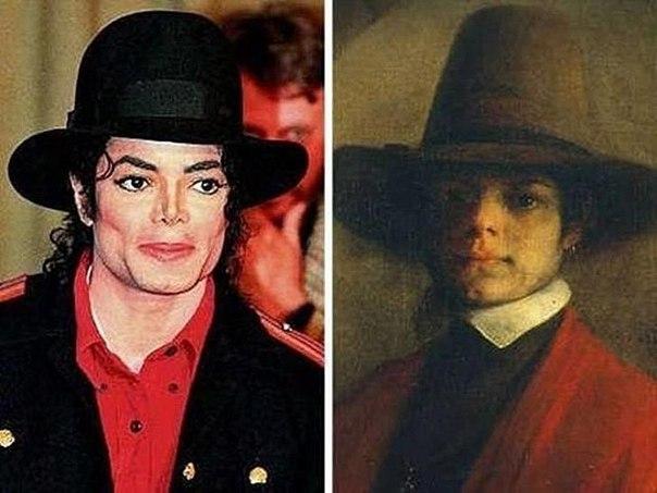 Майкл Джексон и старинный портрет