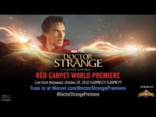 Доктор Стрэндж  Marvel's Doctor Strange (2016) Трасляция с премьеры фильма