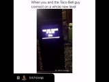Hilarious Taco Bell employee