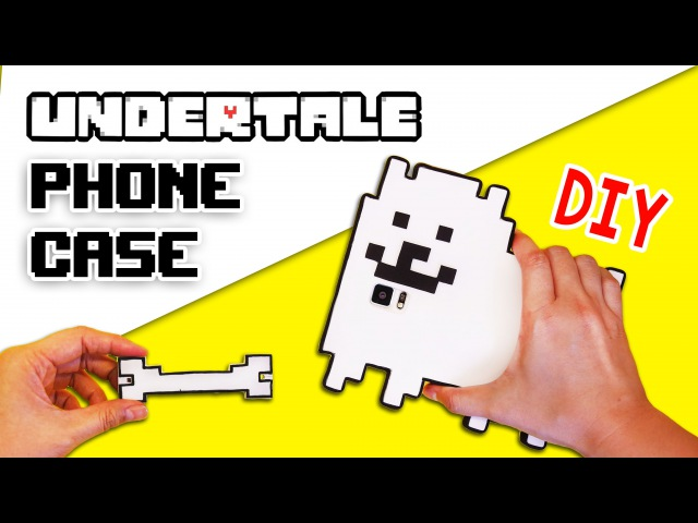 DIY Easy and Cheap Undertale Phone Case Earphone Holder Annoying Dog Phone Cover Tutorial Craft