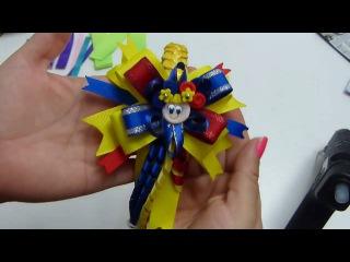 DIY, Diadema con tejido sobrepuesto y moño multicolor, #517, Pap Vinchas forradas con tejido