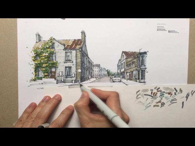 Городской скетчинг (видеоурок)
