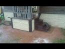 Ремонт своими руками - цоколь дома и крыльцо на даче - 2013 год