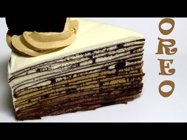 EngSub làm bánh crepe socola Ngàn Lớp 3 Kem Oreo Chocolate mille Crepe Clip làm bánh kếp ca cao