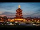 Китай. Город Лоян (провинции Хэнань) с высоты птичьего полета.