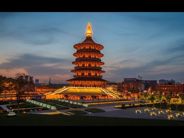 Исторический город Лоян (провинции Хэнань) с высоты птичьего полета
