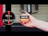 (NSFW) Crushing and Shooting Fake Boobs   Will It Crush?   Hydraulic Press