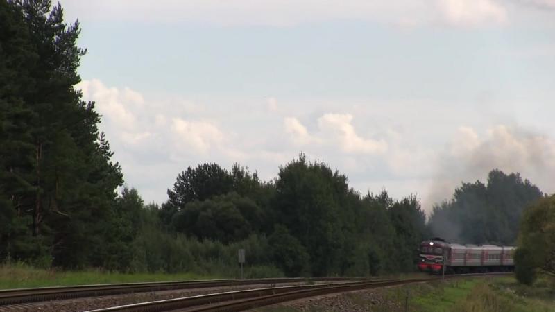 Teplovoz TEP60 0780 zvuk 11D45 Diesel locomotive TEP60 0780 11D45 sound 720p