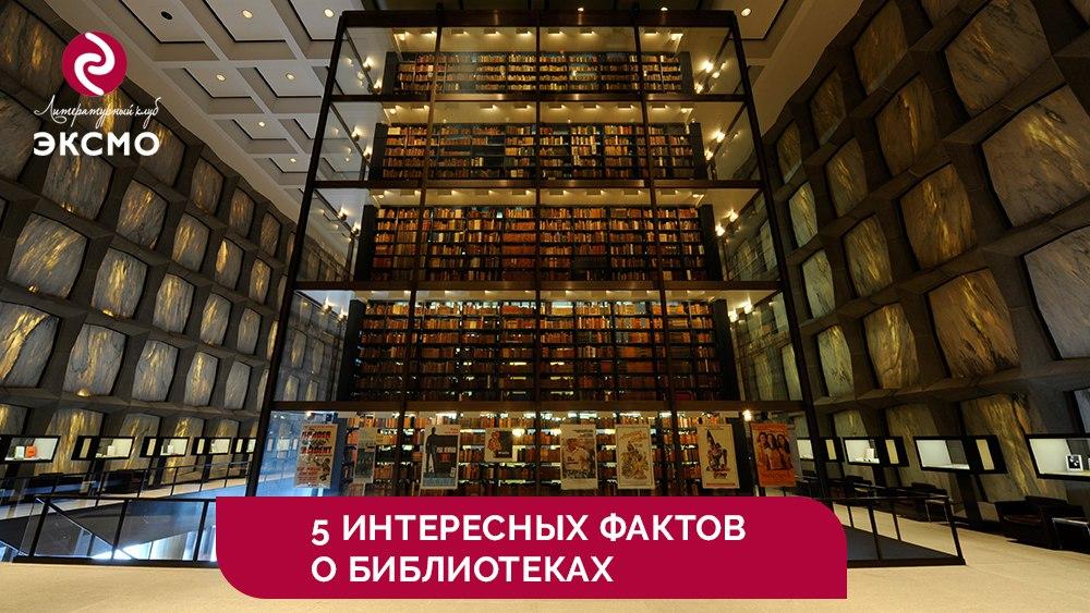 5 интересных фактов о библиотеках.